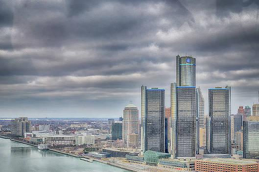 Detroit - Aerial View by Winnie Chrzanowski