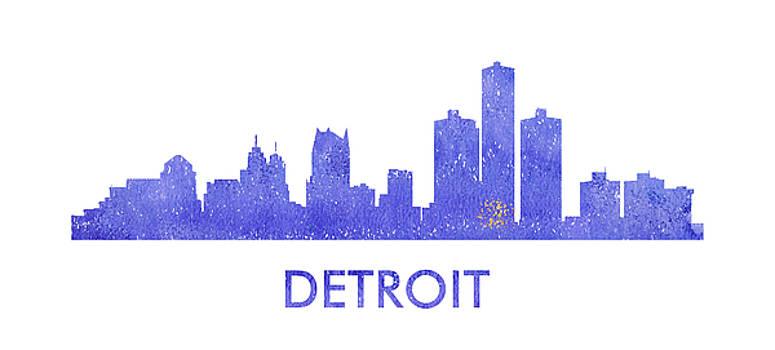 Vyacheslav Isaev - Detroit  city purple skyline