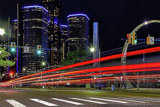 Detroit Light Trails by Winnie Chrzanowski