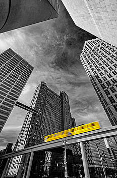 Detroit people mover by Tom Clark