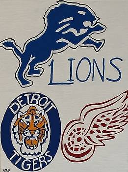 Detroit sports memorabilia by Jonathon Hansen