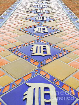Detroit Tigers Tiles by Erick Schmidt