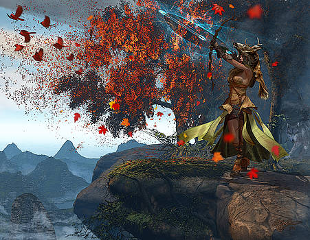 Devana Goddess of the Hunt by Kurt Miller