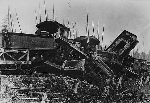 Chicago and North Western Historical Society - Destruction Left in Wake of Train Wreck