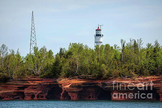 Devils Island Apostle Islands Lighthouse by Nikki Vig