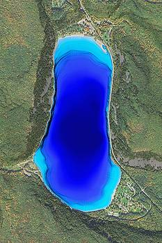 Devil's Lake State Park Aerial Map by Ian Grasshoff