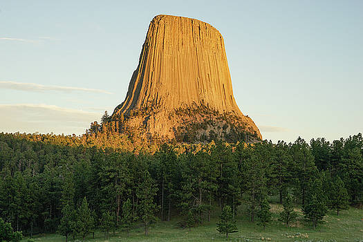 Devils Tower at sunset by Bill Gabbert