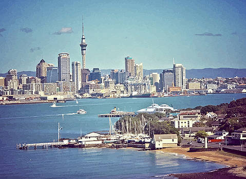 Devonport and Auckland C B D by Clive Littin