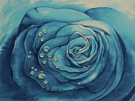 Dew On A Blue Rose-5 by Khromykh Natalia