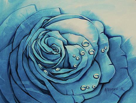 Dew On A Blue Rose by Khromykh Natalia