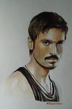 Dhanush Popular Indian Singer by Nicolas Bouteneff