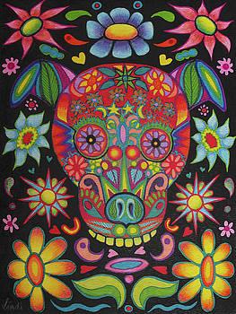 Dia de los Muertos Dog by Lindi Levison