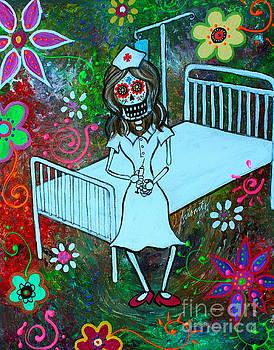 Dia De Los Muertos Enfermera by Pristine Cartera Turkus