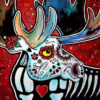 Dia de los Muertos Moose by Andrew Maynard