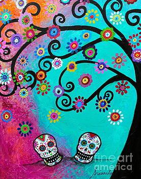 Dia  De los Muertos Special Couple by Pristine Cartera Turkus