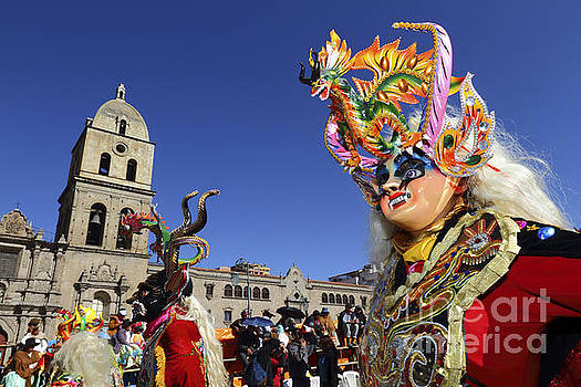 James Brunker - Diablada Dancer and San Francisco Church