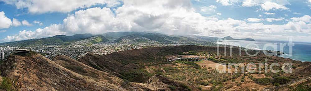 Diamond Head View Panoramic by Jason Kolenda