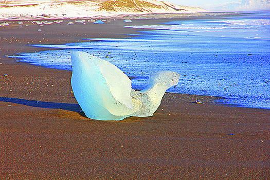 Diamond on Diamond Beach Black Sand Waves Clouds Iceland Iceland 2 2232018 2019.jpg by David Frederick