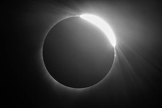 Diamond Ring - Solar Eclipse with Sun Breaking Out by Sean Ramsey