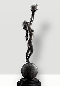 Diana Earth and Moon, Platinum by Richard MacDonald