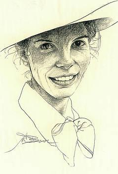 Diana in Pencil by John D Benson