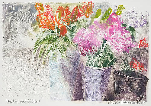 Martin Stankewitz - Dianthus and Lilies,floral still life