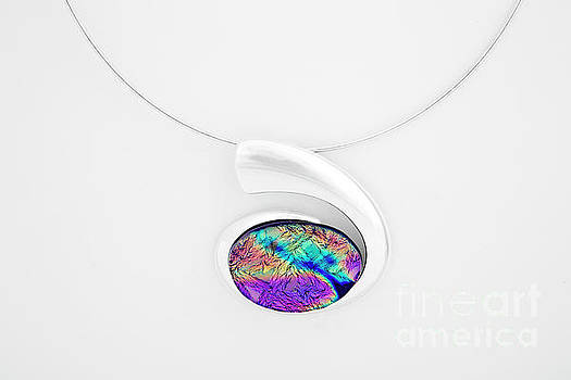 Dichroic Glass Pendant by Sandy Feder