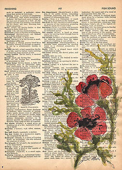 Dictionary Poppies by Jackie Little Miller