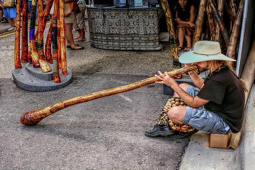 Didgeridoo at the Ann Arbor Art Fair by Pat Cook