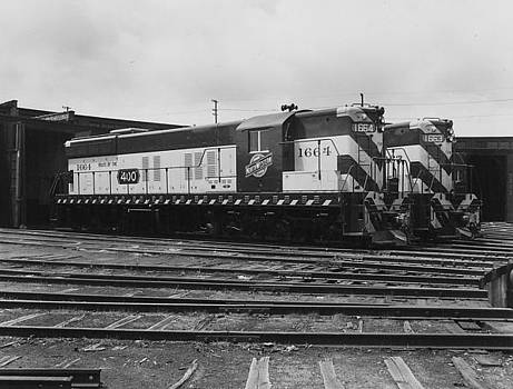 Chicago and North Western Historical Society - Diesel Engine at Milwaukee Roundhouse - 1953