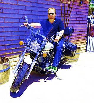 Dietmar Scherf on Motorcycle by Dietmar Scherf