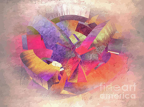 Digital Abstract In Romancing Colours by Clive Littin