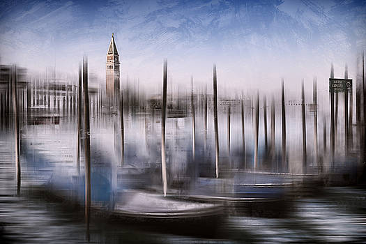 Digital-Art VENICE Grand Canal and St Mark's Campanile by Melanie Viola