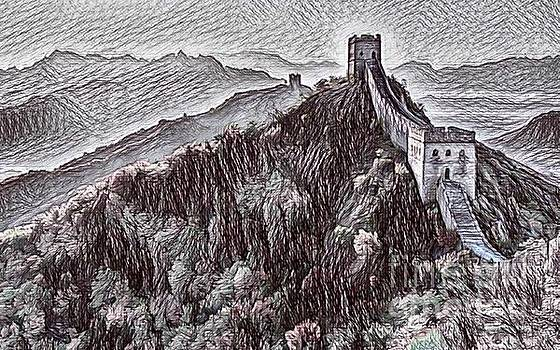 Digital Drawing of the Great Wall of China by Pd