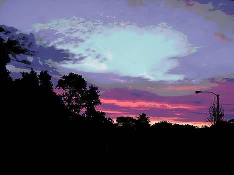 Digital Fine Art Work Sunrise in Violet Gulf Coast Florida by G Linsenmayer