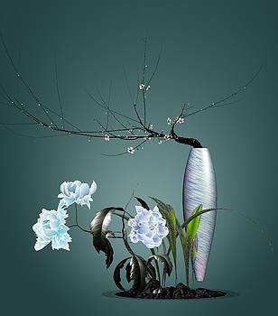Digital Flower Arrangement 0204 by GuoJun Pan