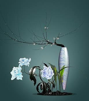 Digital Flower Arrangement 0204 by GuoJun Pan