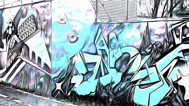 Digital graffiti art by Marco De Mooy