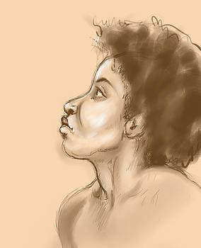 Digital Life Drawing Miranda 1 by Heidi Rissmiller