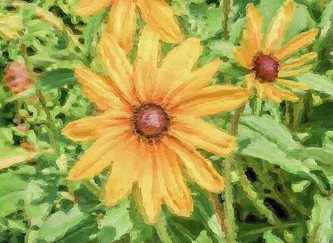 Digital Pastel Sunflower by William Cruz