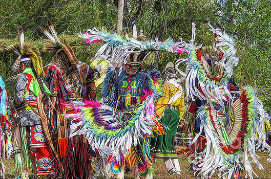 Digital Rendering of Colorful Native American Fancy Dancers by Jeffery Johnson