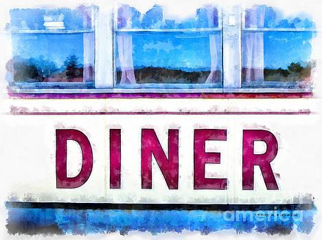 Edward Fielding - Diner watercolor