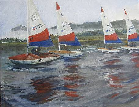 Dinghy Race by Cindie Reiter