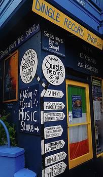 Dingle Record Shop by Melinda Saminski