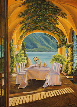 Dining on Lake Como by Charlotte Blanchard