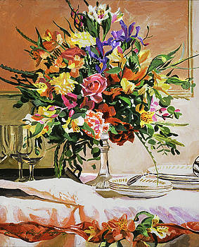 Dinner Buffet Floral by David Lloyd Glover