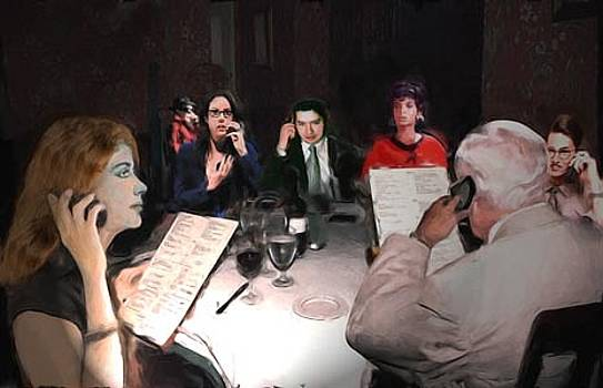 Dinner Conversation by Richard Nickson