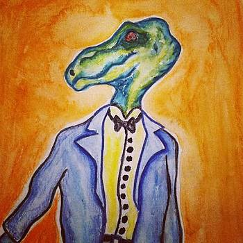 Dinosaur In A Suit Is One Of The Prizes by Karen Bosquez