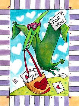 Dinosaur Valentine for You by Mark A Hicks