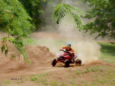 Dirt bikeing by Bonnie Willis